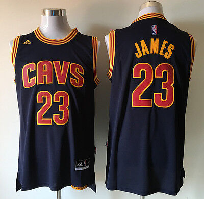 New Navy blue Cleveland Cavaliers #23 LeBron James Embroidery Basketball Jerseys