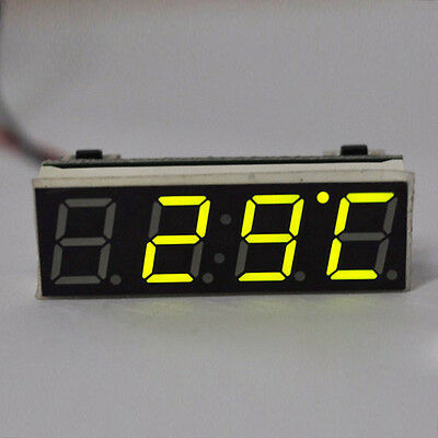 Car Auto New Digital LED Electronic  Time Clock + Voltmeter + Thermometer