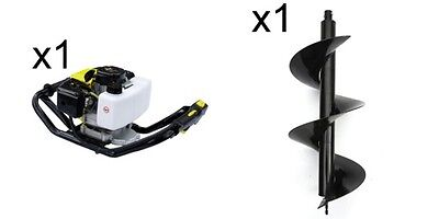 Earth Auger 52cc 300mm Drill Garden Fence Post Plant Hole Borer 2T Petrol 2.5HP