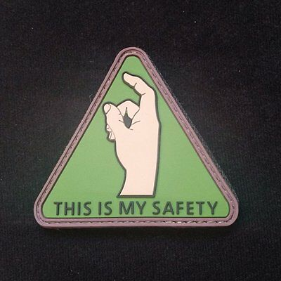 This Is My Safety morale patch badge pvc rubber hoop and loop burr tactical