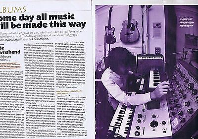 PETE TOWNSHEND - LIFEHOUSE CHRONICLES original 2 page magazine clipping