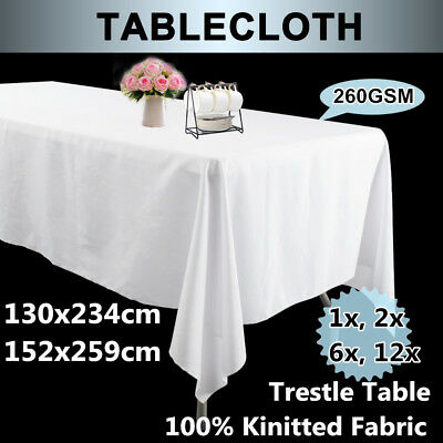 2/6/12Pcs Rectangle Tablecloth 260GSM Wedding TableCloth Banquet Event Cover