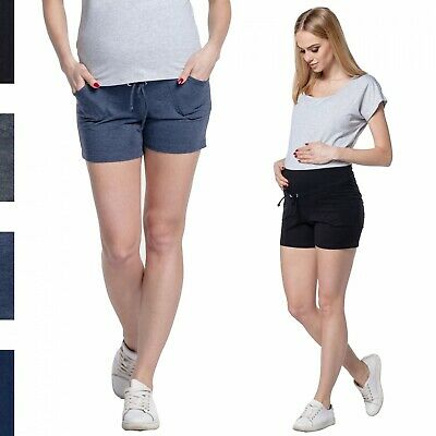 Happy Mama Women's Shorts Maternity Short Pants Elastic Belly Band Pockets. 259p