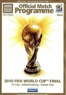 New FIFA World Cup Final 2010 PROGRAMME Spain v Holland football soccer rare