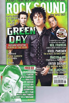GREEN DAY / WIL FRANCIS / STEEL PANTHER Rock Sound + CD no. 123 Jun 2009