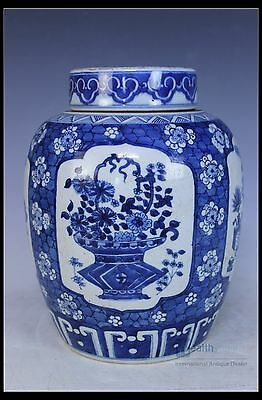 Fine Chinese Beautiful Blue and white Porcelain Flower pot
