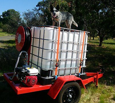 Fire Fighting Trailer Unit 1000 LTR with honda pump