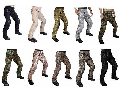 Tactical Pants with Knee Pads Airsoft Camping Hiking Hunting BDU Ripstop Combat