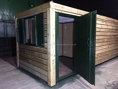 20ft x 8ft Fully clad, half insulated office / half storage
