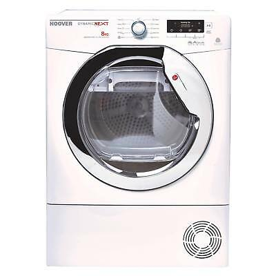 Hoover DNCD813BC Aqua Vision 8kg 2 Temps Condenser Tumble Dryer in White