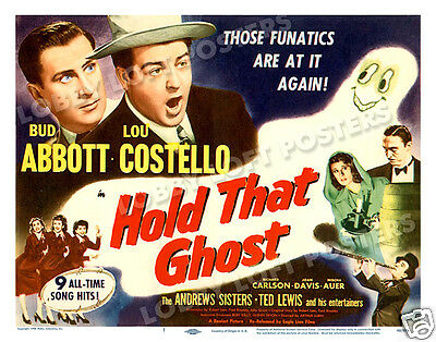 Hold That Ghost  Lobby Title Card Poster 1948-R  Abbott And Costello