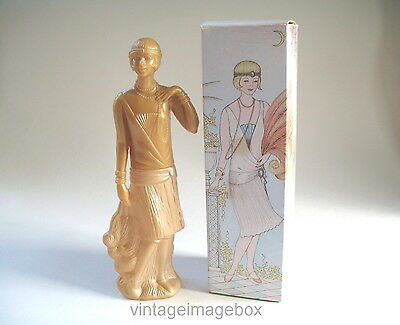 Vintage Avon perfume bottle, Timeless Charleston Girl, boxed, 1980s novelty
