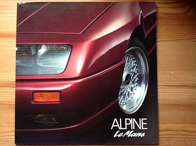 ALPINE Le Mans Brochure Prospekt Prospectus Catalogue (French) 1990 Renault GTA