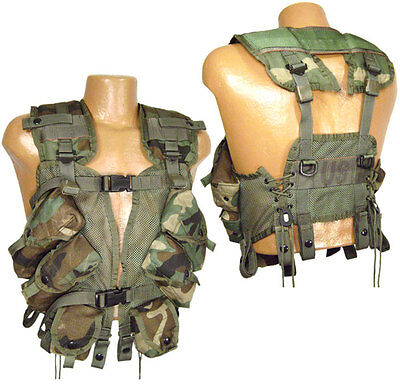 New Genuine Us Army Woodland Enhanced Tactical Load Bearing Vest/lbv. Alice.