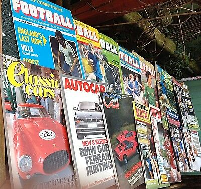 Football Monthly Magazines &  Car Soccer Magazines Lot x13