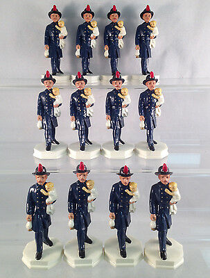 Lot of 12 Fireman Figurines - Great Christmas Gifts or Resale!