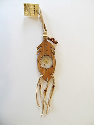 Authentic Iroquois Art Wooden Feather Dreamcatcher, Six Nations, On
