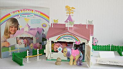Mein kleines/ My Little Pony G1 * Pony Haus & OVP / Show Stable *  near complete