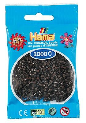Sachet de 2000 Mini Perles à Repasser Hama marron (501-12) - 2,5mm
