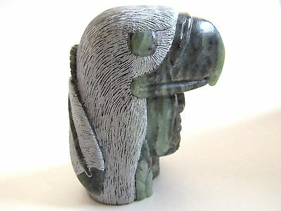 """Authentic Native Art Stone Sculpture """"warrior Spirit"""", Six Nations, Signed"""