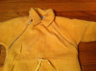 vintage infant size Tidykins insulated outerwear sleeper 100% DuPont Orlon Peach