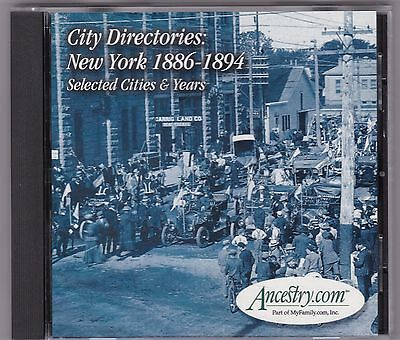 City Directories: New York 1886-1894 Selected Cities ANCESTRY. COM CD-Rom 2000