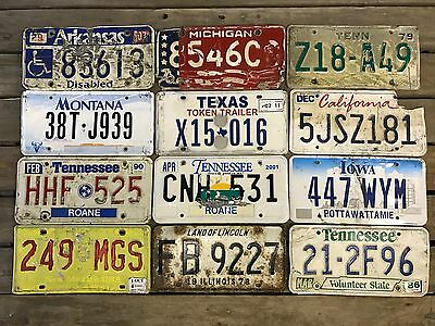 US American Licence Plates Plate Some Rough Condition Ar To Tn PICK YOUR PLATE#3