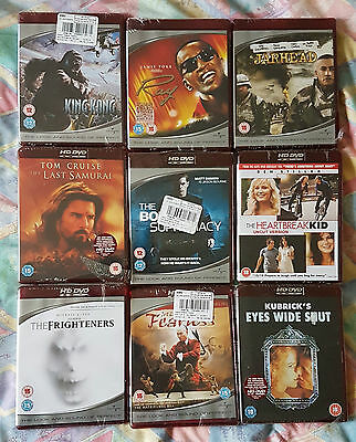 32 X HD-DVD films 17 new and 15 opened