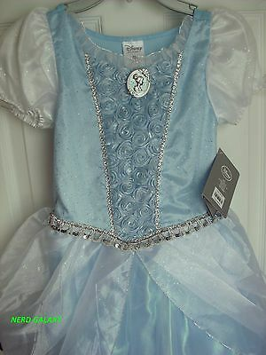 Disney Store OFFICIALLY LICENSED Cinderella Costume Dress, Size 9-10 NEW!