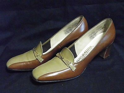 Barely Worn Vintage 1980s Naturalizer 2-tone Oxford Heels Shoes size 7.5 AAA