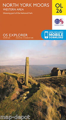 NORTH YORK MOORS (Western Area) EXPLORER Map - OL 26 - OS Ordnance  inc.DOWNLOAD