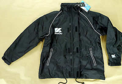 KooGa Auckland 2 Jacket Black Medium Large Boys Rugby Training Waterproof