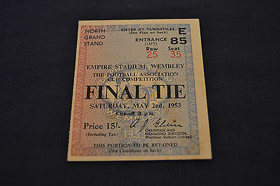 1953 FA Cup Final Blackpool v Bolton Wanderers Ticket VG Cond.