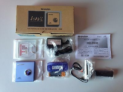SHARP MD-DS30-A - Portable MD MiniDisc Player - Brand New With Box & Accessories