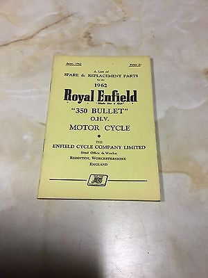 Royal Enfield 1962 350 Bullet Parts List [3-86]
