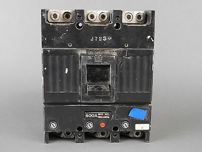 General Electric 3-Pole, 600 Amp, 600VAC Circuit Breaker E11592-R