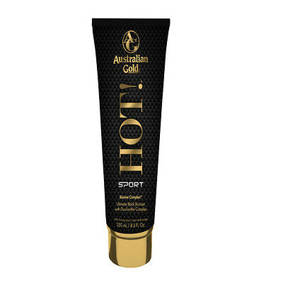 Australian Gold Hot Sport Ultimate Black Bronzer Sunbed Tan Cream 250ml