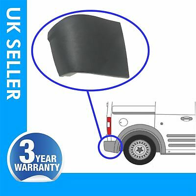 Ford Transit Connect rear bumper corner end caps with clips / right side