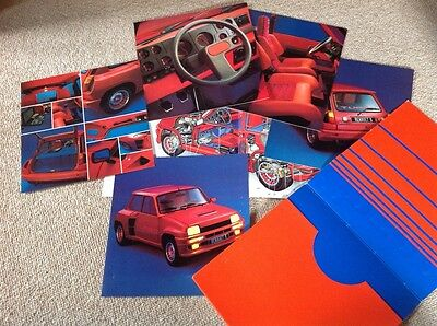 RENAULT 5 TURBO Brochure Folder Prospectus Catalogue (Dutch Nederlands) 1984