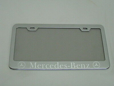 mercedes benz c class mirror chromed metal license plate frame w