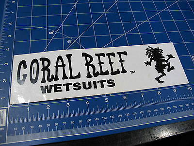 vtg* 1990's Coral Reef Wetsuits Surf sticker LG bumper sticker