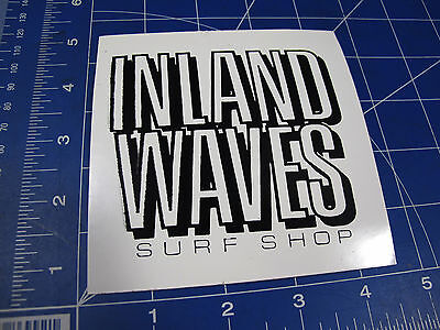 vtg* 1990's Inland Waves Surf Shop Surf sticker square