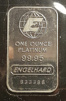 Engelhard 1 oz 9995 Platinum Bar - Original Assay