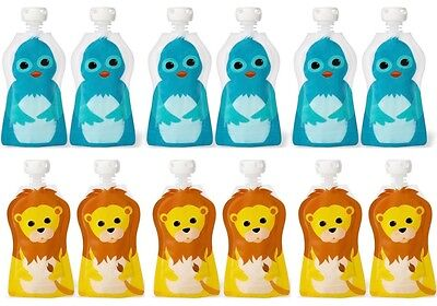 Squooshi Small Freezer Baby Food Pouches 12 Pack