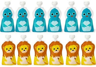 Squooshi Small Freezer Baby Food Pouches 12 Pack  |  FINAL MARKDOWN