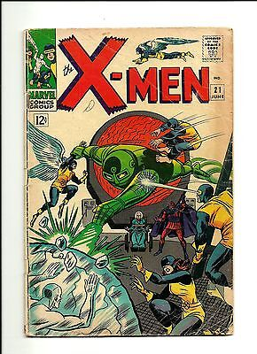 1966 Marvel Comics The X-Men # 21 GD 2.0 Condition