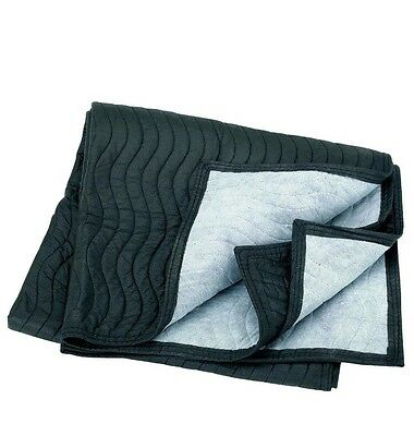 """40"""" x 72"""" MOVER's BLANKET Quilted PaDDeD black gray poly cotton Furniture Moving"""