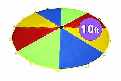 Kiddey Giant Multi Color Play Parachute - for Indoor and Outdoor, Gym Exercise -