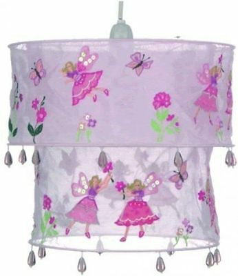 Gorgeous Girls Pink Fairy Voile Bead Purple Pendant Bedroom Ceiling Lampshade