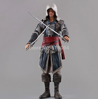 Figura 30cm Assassins Creed 4 Black Flag Edward Kenway Action Figure Collectible